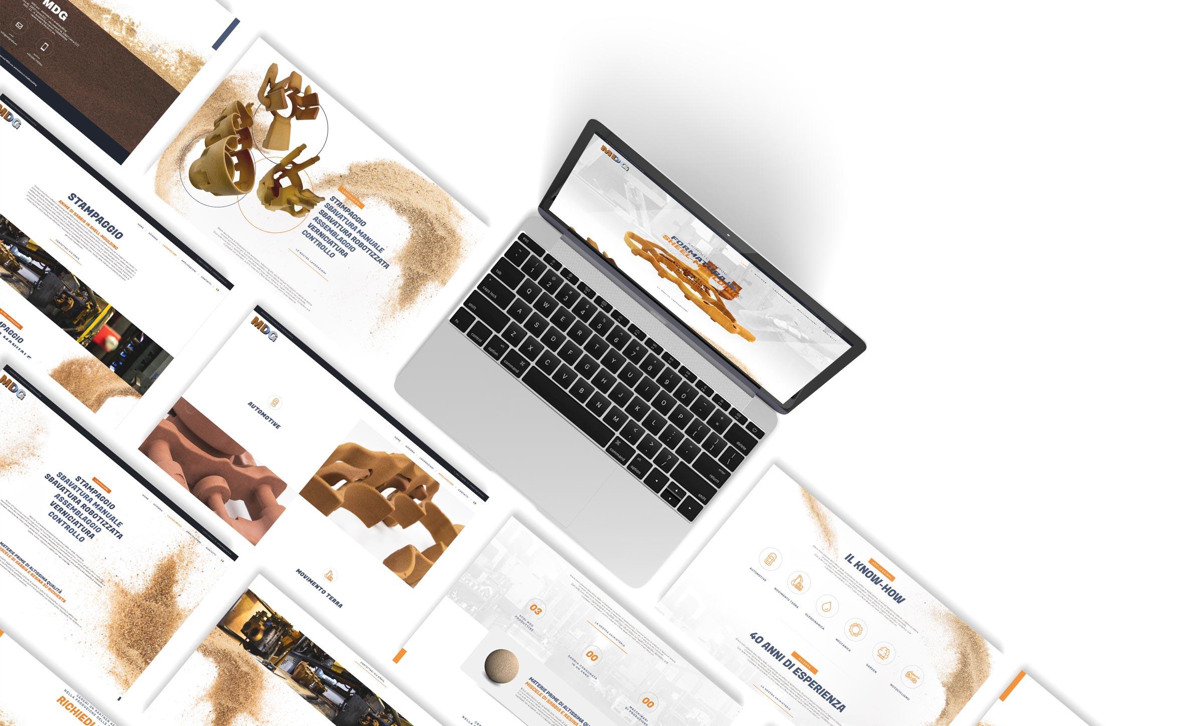 MDG Italia sviluppo layout UI-UX sito web aziendale