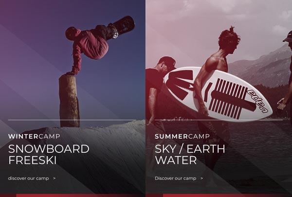 fresk ecommerce winter summer sport camp